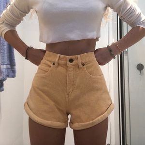 NWT Afends cotton corduroy creamsicle shorts